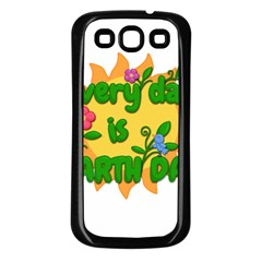 Earth Day Samsung Galaxy S3 Back Case (Black)