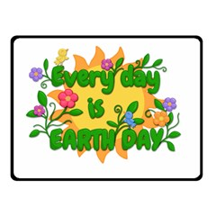 Earth Day Double Sided Fleece Blanket (Small)