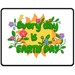 Earth Day Double Sided Fleece Blanket (Medium)