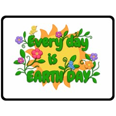 Earth Day Double Sided Fleece Blanket (Large)