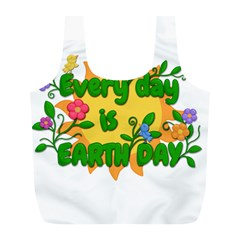 Earth Day Full Print Recycle Bags (L)