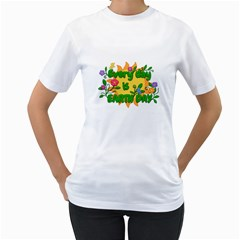 Earth Day Women s T-Shirt (White)