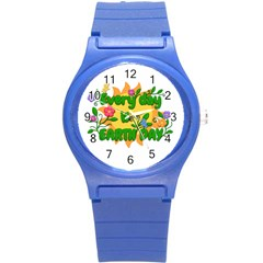 Earth Day Round Plastic Sport Watch (s) by Valentinaart