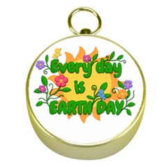 Earth Day Gold Compasses