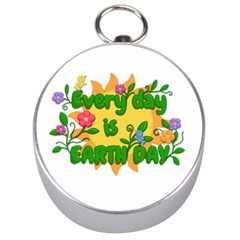Earth Day Silver Compasses