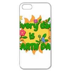 Earth Day Apple Seamless Iphone 5 Case (clear) by Valentinaart