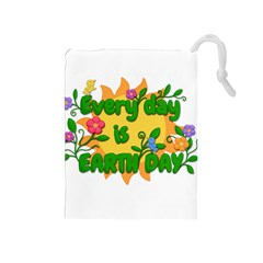 Earth Day Drawstring Pouches (Medium)