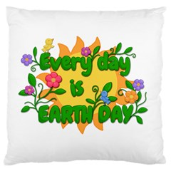 Earth Day Large Flano Cushion Case (Two Sides)
