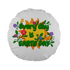 Earth Day Standard 15  Premium Flano Round Cushions