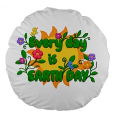 Earth Day Large 18  Premium Flano Round Cushions
