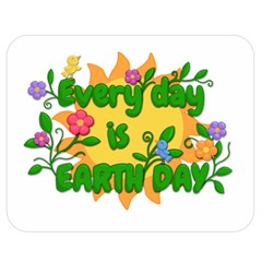 Earth Day Double Sided Flano Blanket (Medium)