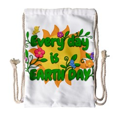 Earth Day Drawstring Bag (Large)