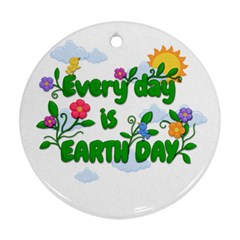 Earth Day Ornament (round) by Valentinaart