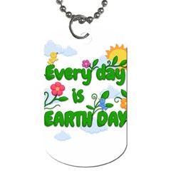 Earth Day Dog Tag (two Sides)