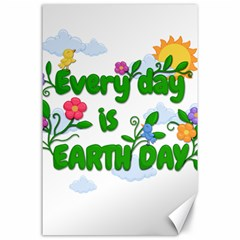 Earth Day Canvas 24  X 36  by Valentinaart