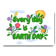 Earth Day Large Doormat  by Valentinaart