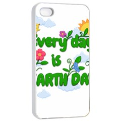 Earth Day Apple Iphone 4/4s Seamless Case (white)