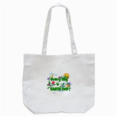 Earth Day Tote Bag (white)