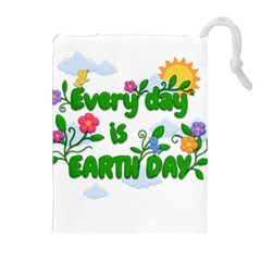 Earth Day Drawstring Pouches (extra Large) by Valentinaart