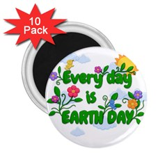 Earth Day 2 25  Magnets (10 Pack)