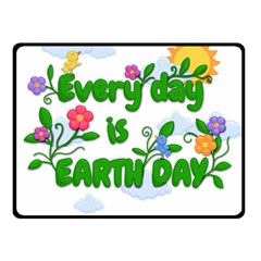 Earth Day Fleece Blanket (small) by Valentinaart