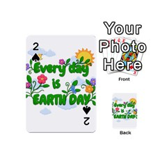 Earth Day Playing Cards 54 (mini)  by Valentinaart