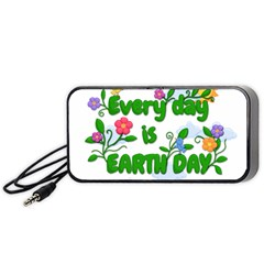 Earth Day Portable Speaker by Valentinaart