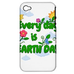 Earth Day Apple Iphone 4/4s Hardshell Case (pc+silicone) by Valentinaart
