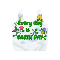 Earth Day Full Print Recycle Bags (s)  by Valentinaart