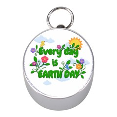 Earth Day Mini Silver Compasses by Valentinaart