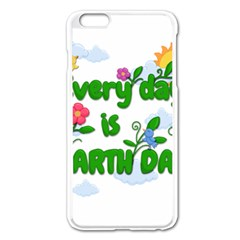 Earth Day Apple Iphone 6 Plus/6s Plus Enamel White Case