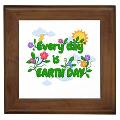 Earth Day Framed Tiles by Valentinaart