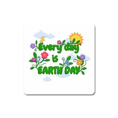 Earth Day Square Magnet by Valentinaart