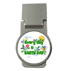 Earth Day Money Clips (round)  by Valentinaart