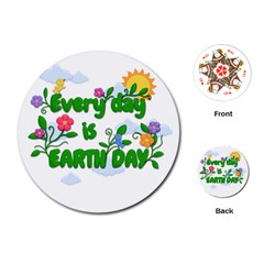 Earth Day Playing Cards (round)  by Valentinaart