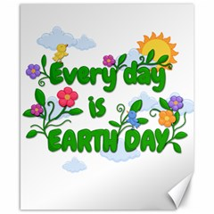 Earth Day Canvas 8  X 10  by Valentinaart