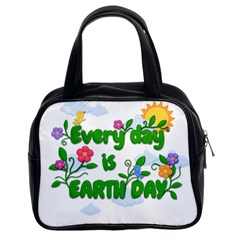 Earth Day Classic Handbags (2 Sides) by Valentinaart