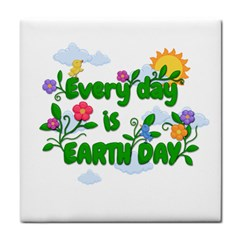 Earth Day Face Towel by Valentinaart