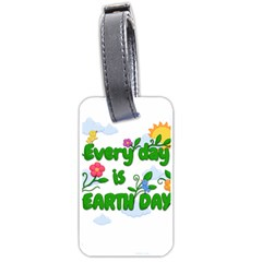 Earth Day Luggage Tags (one Side)  by Valentinaart