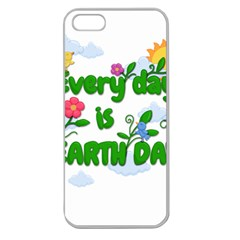 Earth Day Apple Seamless Iphone 5 Case (clear)