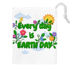 Earth Day Drawstring Pouches (xxl) by Valentinaart