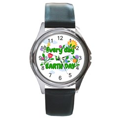 Earth Day Round Metal Watch by Valentinaart