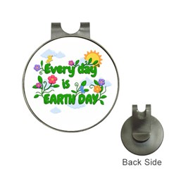 Earth Day Hat Clips With Golf Markers by Valentinaart