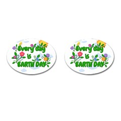 Earth Day Cufflinks (oval) by Valentinaart