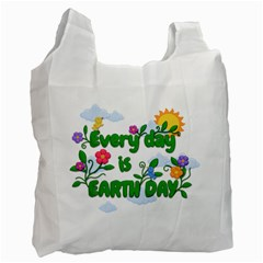 Earth Day Recycle Bag (two Side)  by Valentinaart