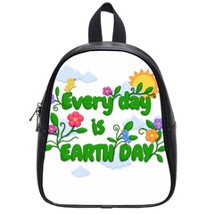 Earth Day School Bag (small) by Valentinaart