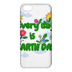 Earth Day Apple Iphone 5c Hardshell Case by Valentinaart