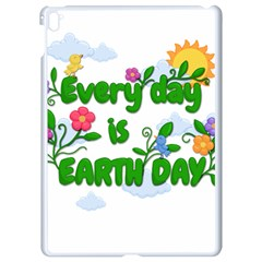 Earth Day Apple Ipad Pro 9 7   White Seamless Case by Valentinaart