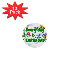 Earth Day 1  Mini Buttons (10 Pack)  by Valentinaart