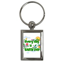 Earth Day Key Chains (rectangle)  by Valentinaart
